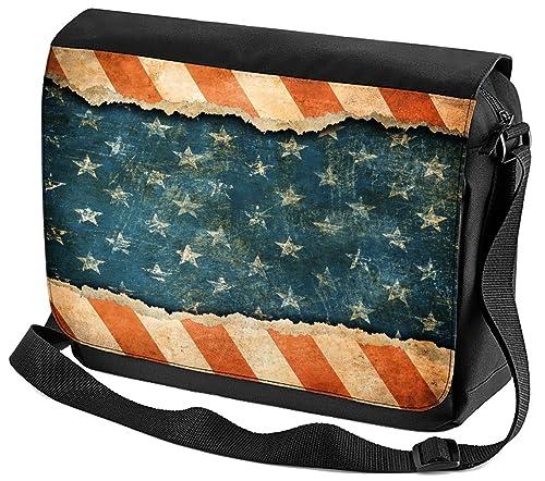 design senza tempo a769e 6aea8 Borsa Tracolla Viaggio Mondo Bandiera degli Stati Uniti ...