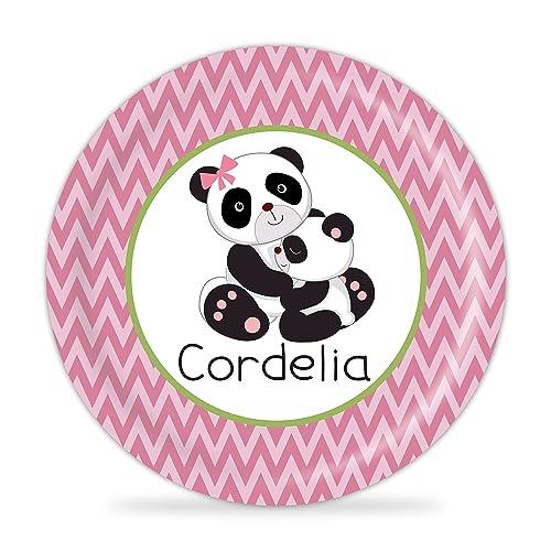 Panda Bear Plate - Pink Panda Melamine Personalized Plate  sc 1 st  Amazon.com & Amazon.com: Panda Bear Plate - Pink Panda Melamine Personalized ...