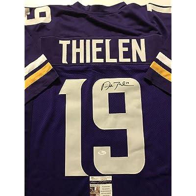 purchase cheap 5559f 04178 Adam Thielen Autographed Jersey - Purple COA - JSA Certified ...