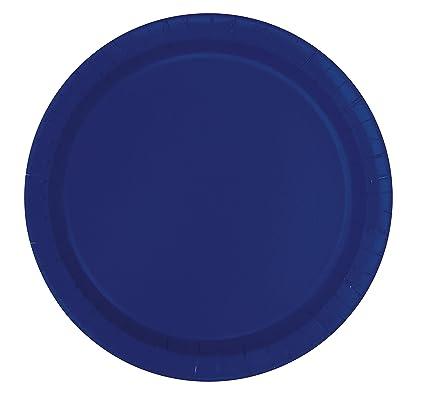 Amazon.com: Navy Blue Paper Plates, 16ct: Kitchen & Dining