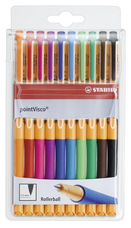STABILO pointVisco Penna Roller colori assortiti - Astuccio da 10 1099/10 takeoka-KDM-04166