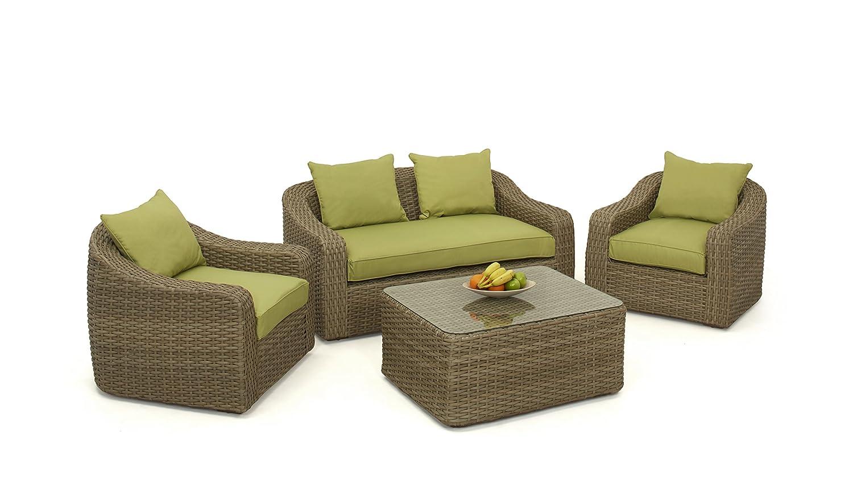 Milan redondeadas Juego de sofá de/nat-green: Amazon.es: Jardín