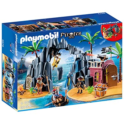 PLAYMOBIL Pirate Treasure Island: Toys & Games