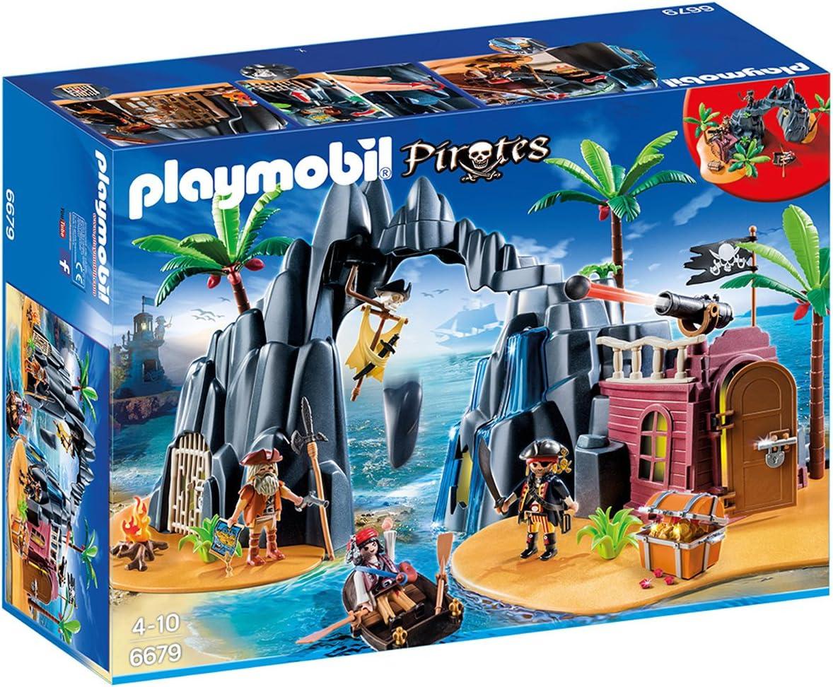 PLAYMOBIL - Isla del Tesoro Pirata (66790): Amazon.es: Juguetes y juegos