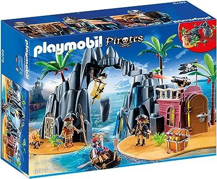 Amazon.com: Playmobil Isla Del Tesoro Pirata Playset: Toys ...