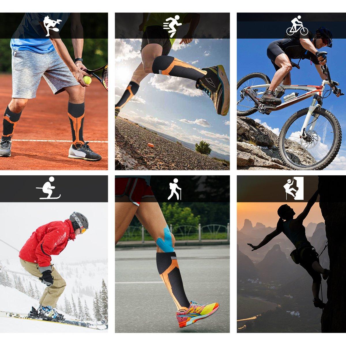 Nurses Shin Splints Flight Travel /& Maternity Pregnancy L//XL UK Women 5.5-13 // UK Men 7-13.5 Compression Socks for Men /& Women Best Graduated Athletic Fit for Running