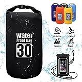 Molee Dry Bag,Waterproof Bag Waterproof Floating Dry Sack 5L,10L,15L,20L,30L with Phone Dry Bag for Kayaking,Rafting,Boating,Swimming,Camping,Hiking,Beach