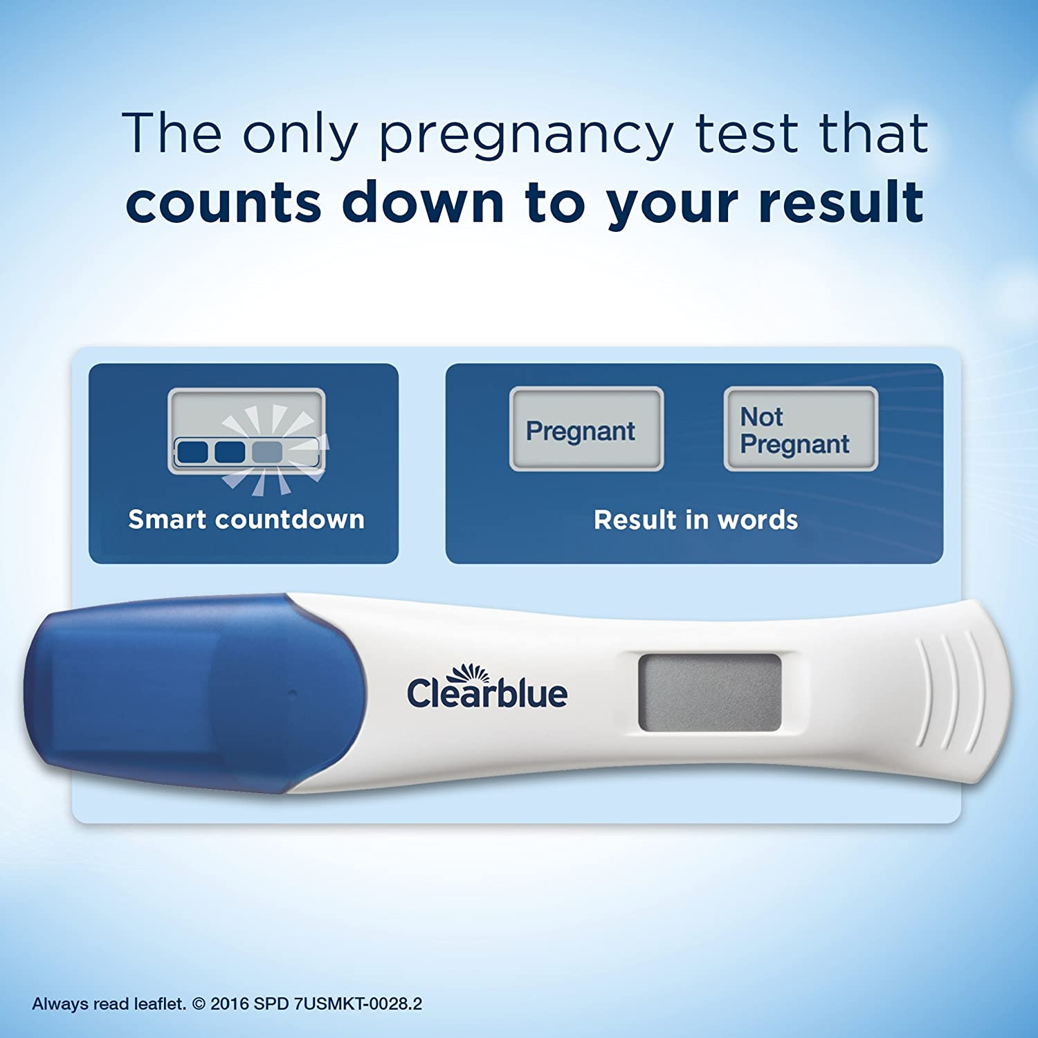 Clearblue Digital Pregnancy Test with Smart Countdown, 3 Pregnancy Tests