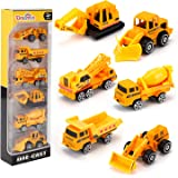 Alloy Truck Mini Pocket Size Construction Models Play Vehicles Toy Trucks for Boys Age 2 3 4 ,Kids Party Favors Cake Decorati