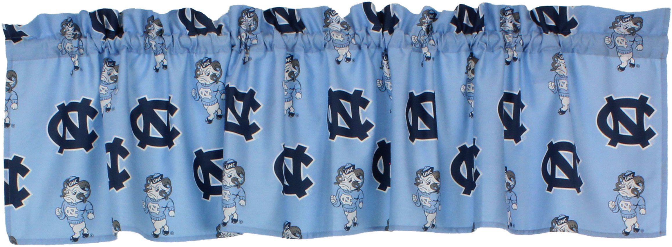 College Covers International North Carolina Tar Heels Printed Curtain Valance - 84'' X 15''