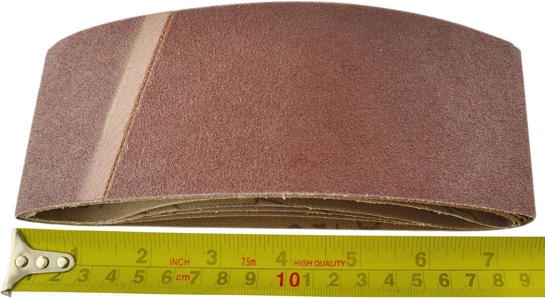 Power Belt Sander Fichier doigt Bandes abrasives abrasifs 410mm x 65mm grain 120 PK 10
