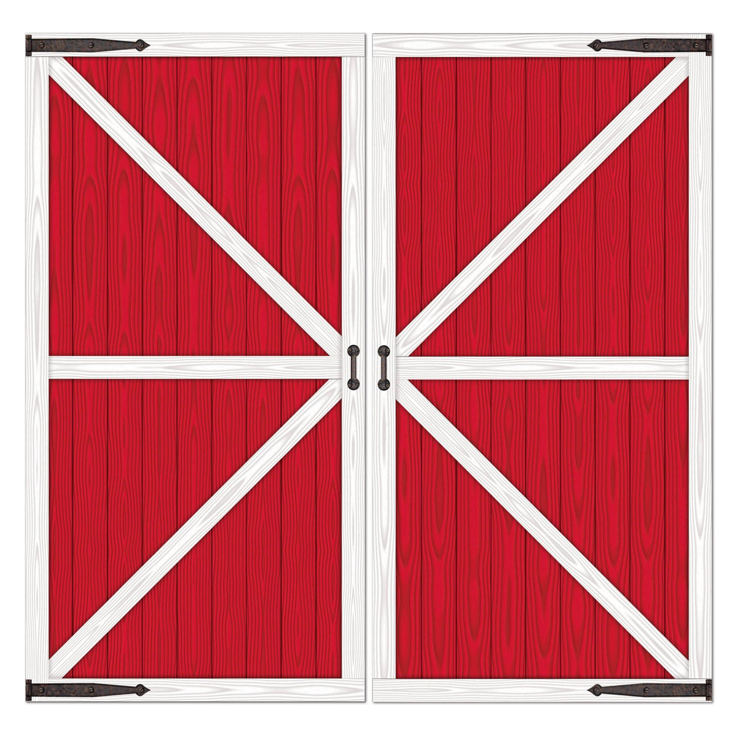 Cartoon red barn doors - Amazon Com Barn Door Props Party Accessory 1 Count 2 Pkg Party Decorations Kitchen Dining