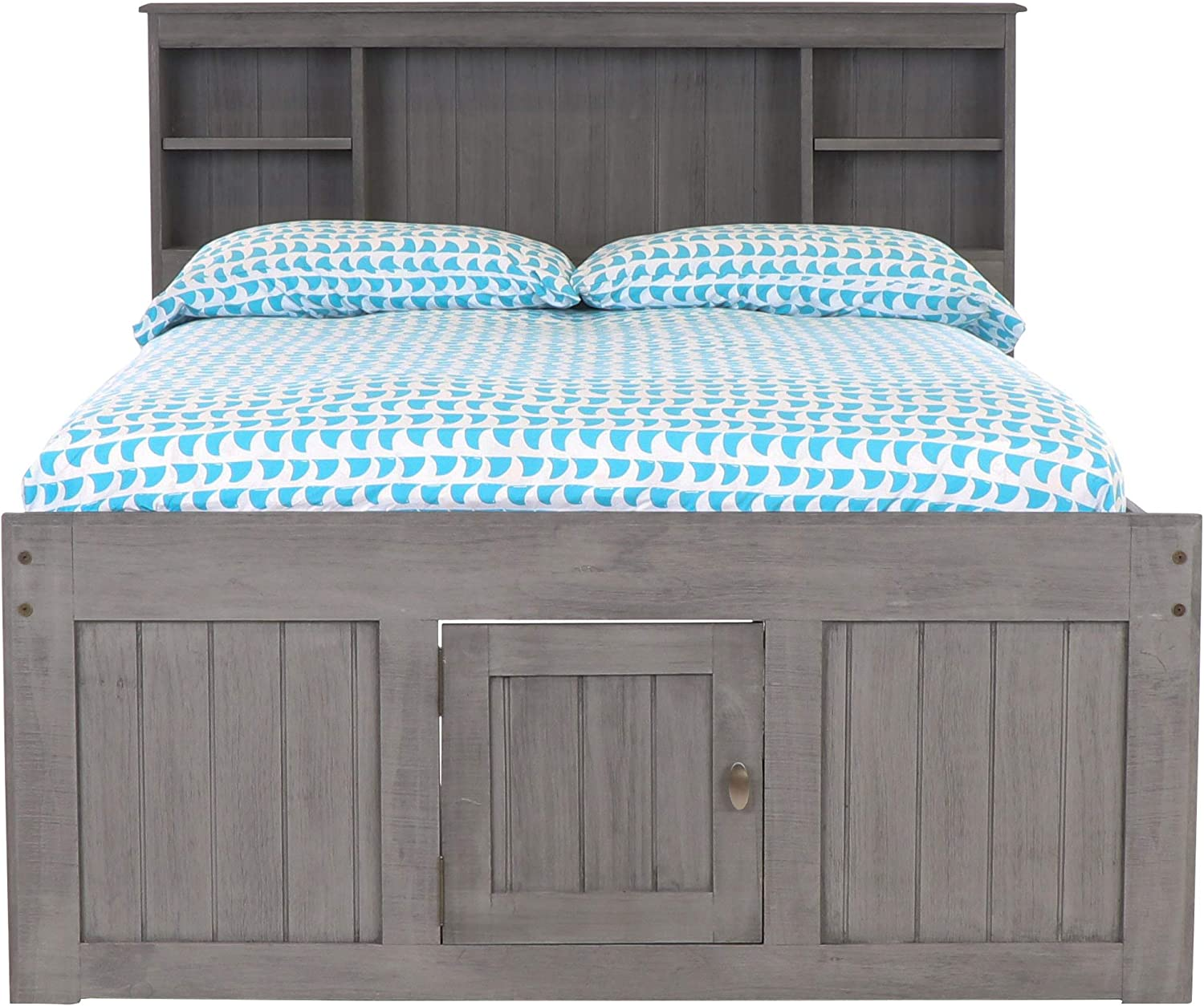Discovery World Furniture Full Bookcase Bed with 12 Drawers