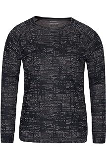 Mountain Warehouse Camiseta térmica Interior Meribel para Hombre - 100% algodón Peinado, Cuello Vuelto, Transpirable, Secado rápido y Mangas Ajustadas, fácil Cuidado: Amazon.es: Ropa y accesorios