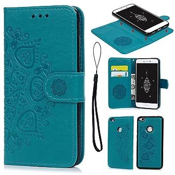 Cas Flip Premium Pour Huawei P8 - Bleu Clair Lshkc