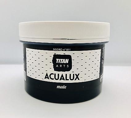Titan - Chalk Paint Pintura efecto Tiza Especial Pizarras Acualux Mate 811 Negro 250 ml