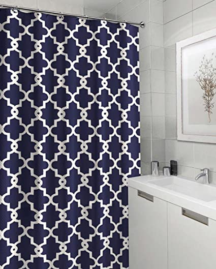 Amazon Ruthys Textile Geometric Patterned Shower Curtain 70