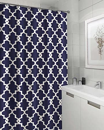 Amazon.com: Ruthyu0027s Textile Geometric Patterned Shower Curtain, Grey: Home  U0026 Kitchen