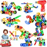 Jasonwell STEM Toys Building Blocks - 166+PCS Educational Construction Set Creative