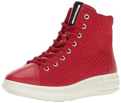 fe1349ee8a ECCO Women's Women's Soft 3 High Top Fashion Sneaker, Chili Red, 40 EU/