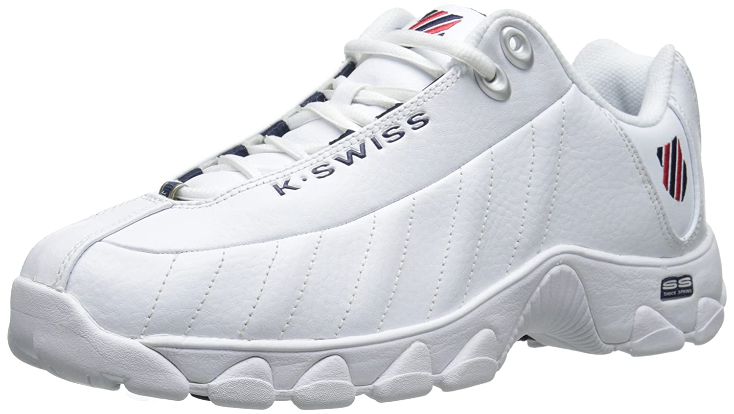 K-Swiss Mens ST329 Fashion Sneakers B00RBA87E8 10 D(M) US|White / Navy / Red White / Navy / Red 10 D(M) US