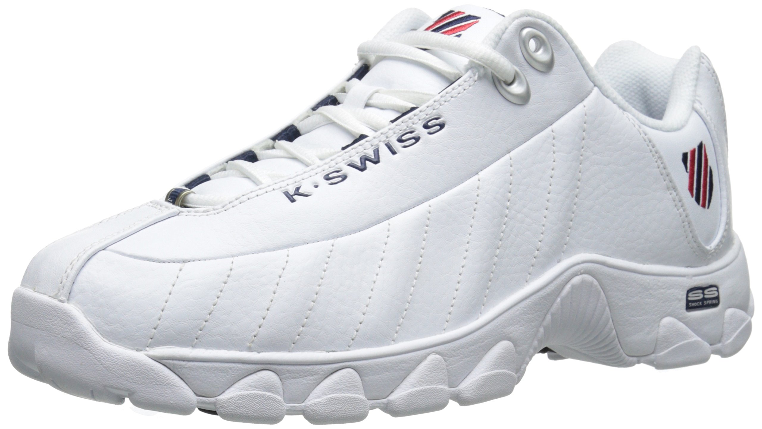 K-Swiss Men's ST329 CMF Training Shoe, White/Navy/Red, 11 M US by K-Swiss