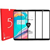 CASE U Full Glue Edge-to-Edge 3D Tempered Glass Screen Protector for OnePlus 5T (Pack of 3, Black)