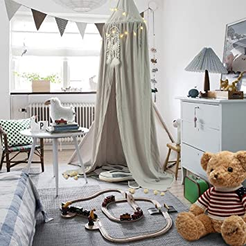 bett baldachinbetthimmel fr kinder baumwolle mosqutio net zum aufhngen vorhang baby indoor outdoor - Prinzessin Bett Baldachin Mit Lichtern