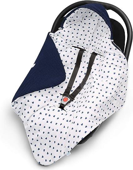 Maxi Cosi universale ideale come coperta per culla EliMeli coperta Minky Copertina per ovetto ad es per seggiolino auto e passeggino con imbottitura
