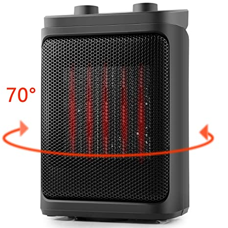 Space Heater, OPOLAR Portable Electric Heater for Indoor Office Bedroom  Small Space Room Use, Auto Oscillating, 800/1500 Watts Quiet Operation  Heater