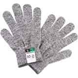 Cut Resistant Gloves, Food Grade, Level 5, Anti Cutting for Kitchen Knives, Meat Cutting, Mandolin Slicing, Graters, Fish Fil