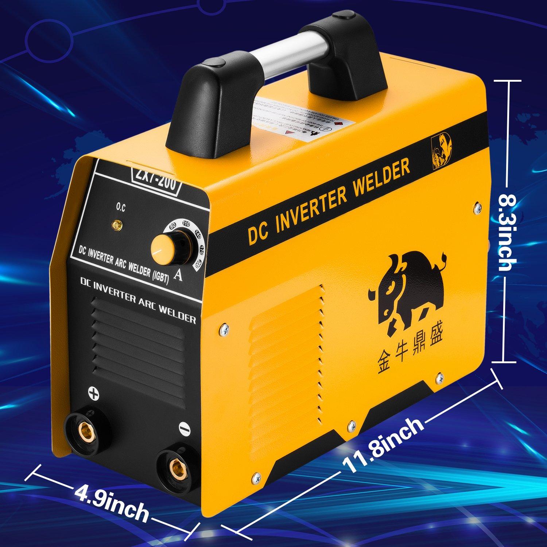 Soldadora Inverter 200Amp IGBT MMA 1.6 - 5.0mm Maquina de Soldar: Amazon.es: Coche y moto