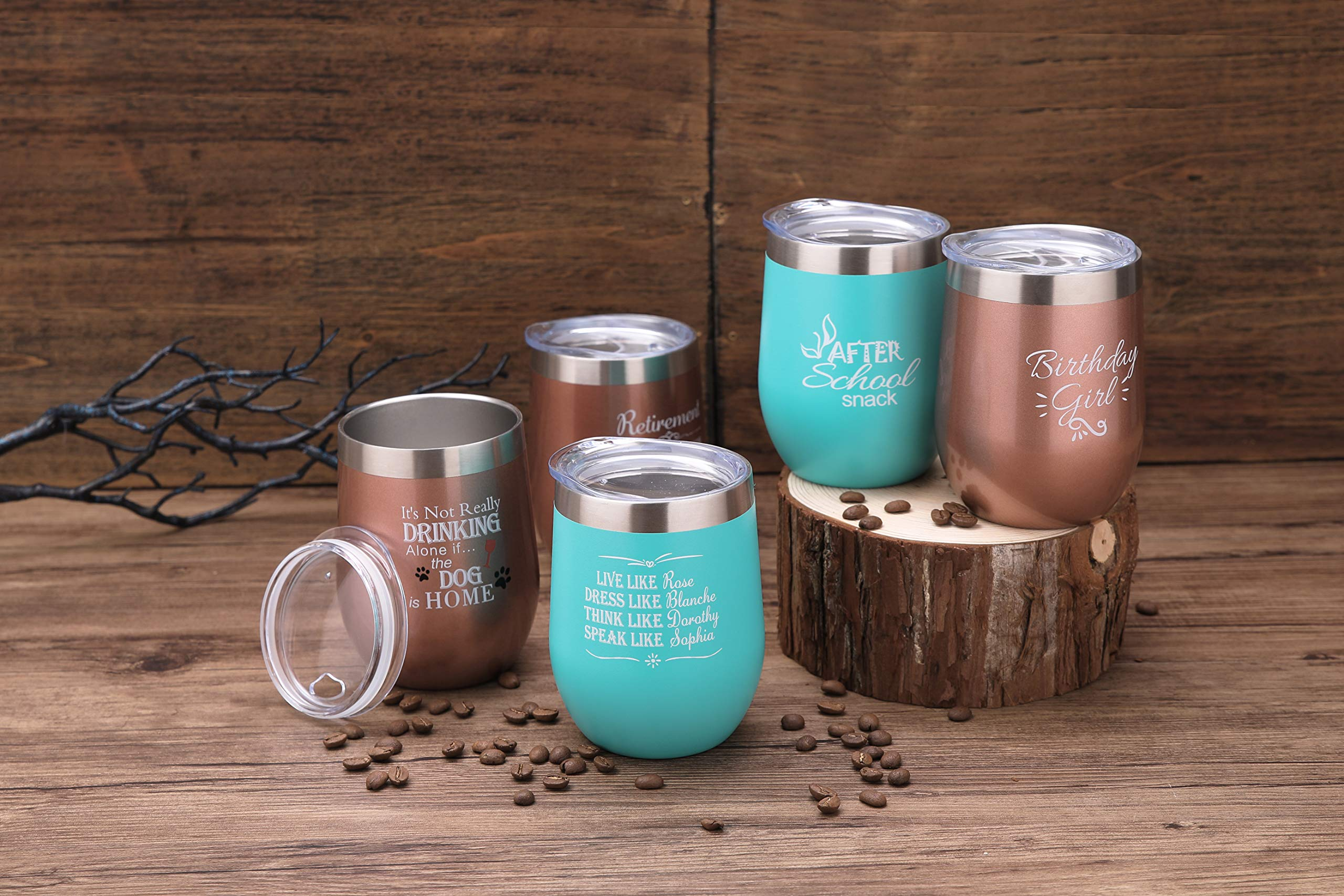Side By Side or Miles Apart,Friends Are Always Close at Heart Wine Tumbler,Mug,Birthday Day Best Friends,Long Distance Friendship Gifts by Pufuny (Image #7)