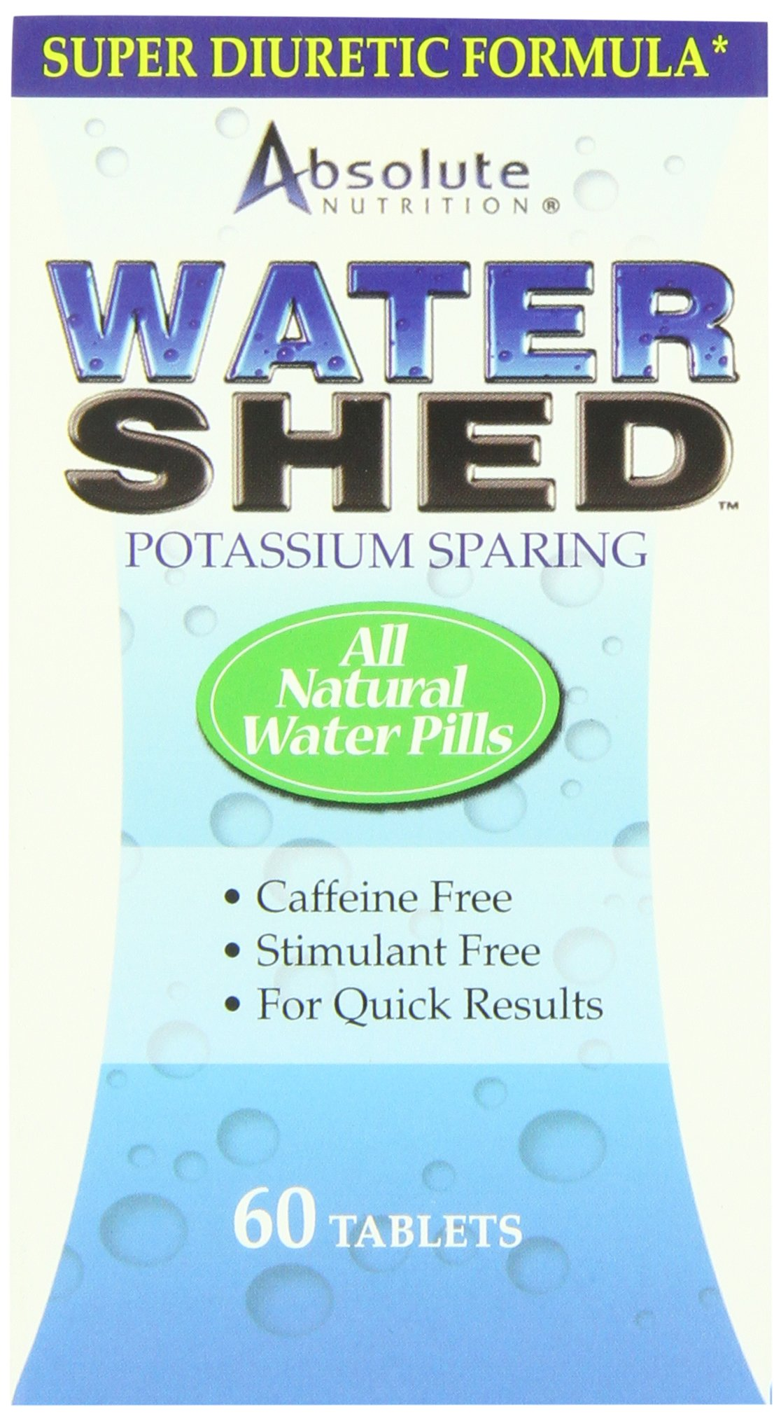 Absolute Nutrition Potassium Sparing Water Shed,  60 Tablets (Pack of 2)