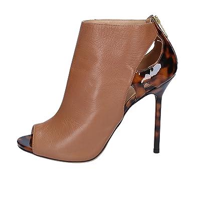 8bff7808f44150 Sergio Rossi Stiefeletten Damen Leder braun 37 EU  Amazon.de  Schuhe ...