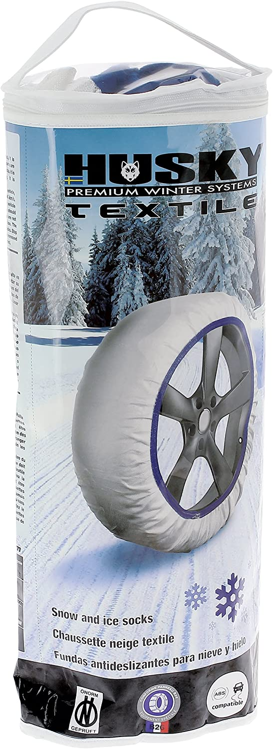 Frost /& Snow Chain Socks for 16 Tyres Husky Sumex Textile Winter Car Wheel Ice 195//65 R16