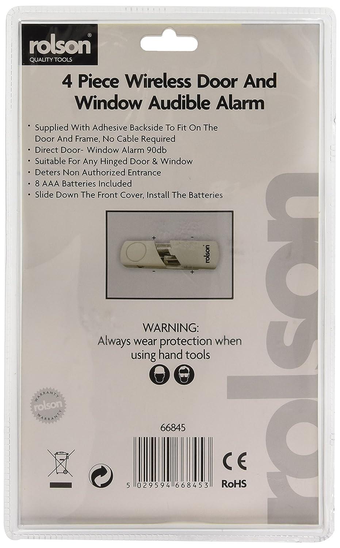 Rolson 66845 Wireless Door And Window Audible Alarm 4 Pieces Doorbell Wiring Diagram Friedland Bell Circuit Smlf More Diy Tools
