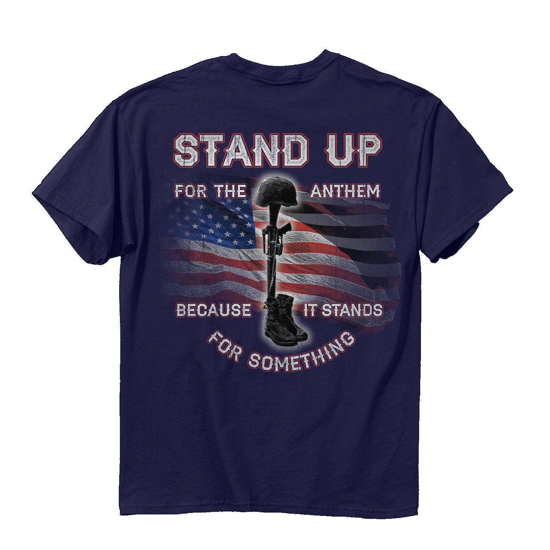 最新情報 Buck WearユニセックスStand Anthem Up for the Anthem Tシャツ 4L、ネイビー B01N0Z5NCU 4L ネイビー B01N0Z5NCU, charm:361bc3a1 --- a0267596.xsph.ru