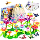 Joyjoz Flower Garden Building Toys, Educational Toys for 3 4 5 6 Year Old Girls' Gifts, Pretend Gardening Toys, Build a…