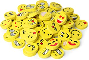 Mr. Pen- Erasers, Pack of 64, Emoji Eraser, Pencil Erasers, Erasers for Kids, School Supplies, Mini Eraser Pencil for Students, Fun Eraser, Cute Erasers, Eraser for School, Prizes for Kids Classroom