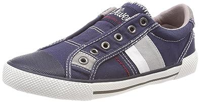s.Oliver Jungen 54100 Slip on Sneaker, Grau (Grey), 39 EU