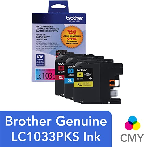Amazon.com: Tinta para impresora LC1033PKS Brother Paquete ...