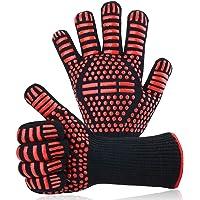 Herefun Barbecuehandschoenen, Ovenhandschoenen, Hittebestendig Tot 932 °F/500 °C, 1 Paar Antislip Handschoenen voor BBQ…