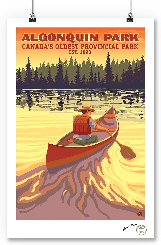 Ontario 9x12 Art Print, Wall Decor Travel Poster Algonquin Provincial Park Canada