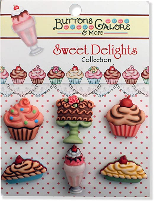 Buttons Galore Sweet Delights Buttons-Coffee Cups