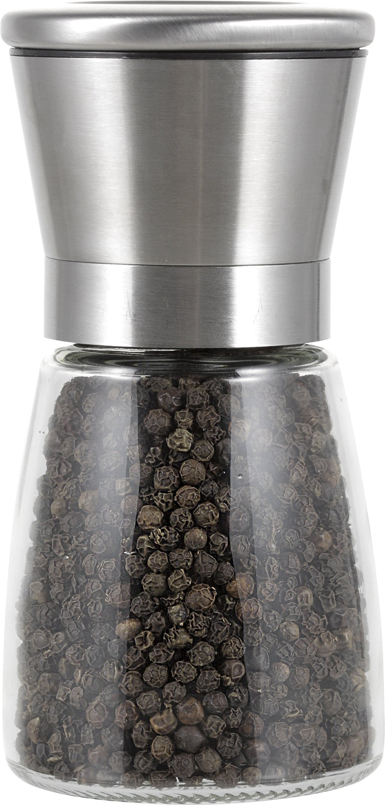 Peppertones Paris Black Cambodian Kampot Gourmet Peppercorns(Whole) Glass Mill, 3.5oz(100g) by Peppertones