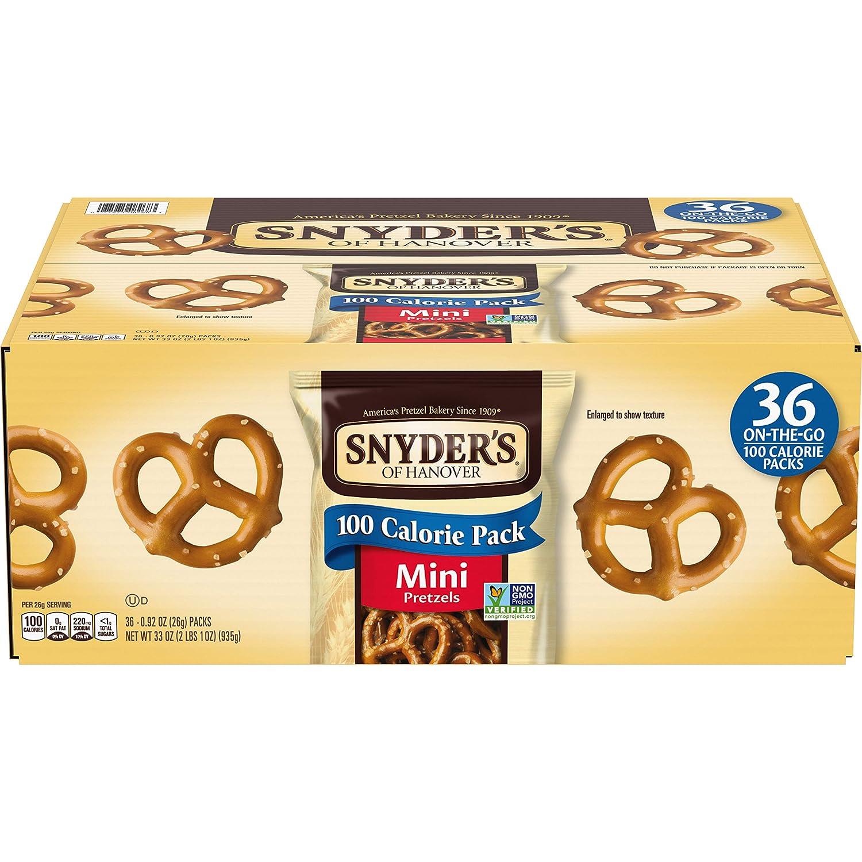 Snyder's of Hanover Pretzels, Mini Pretzels 100 Calorie Packs (Pack of 36)