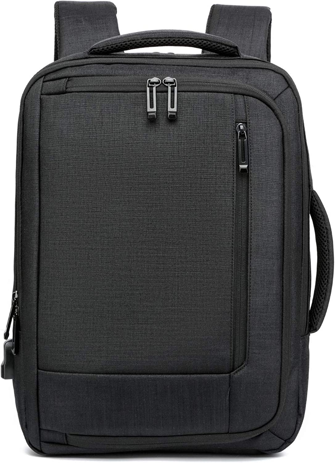 Travel Business Laptop Backpack for Men and Women,Large Laptop Bag with USB Charging Port Lock,Lightweight College School Computer Bag Fits 17.3 inch Notebook,Black