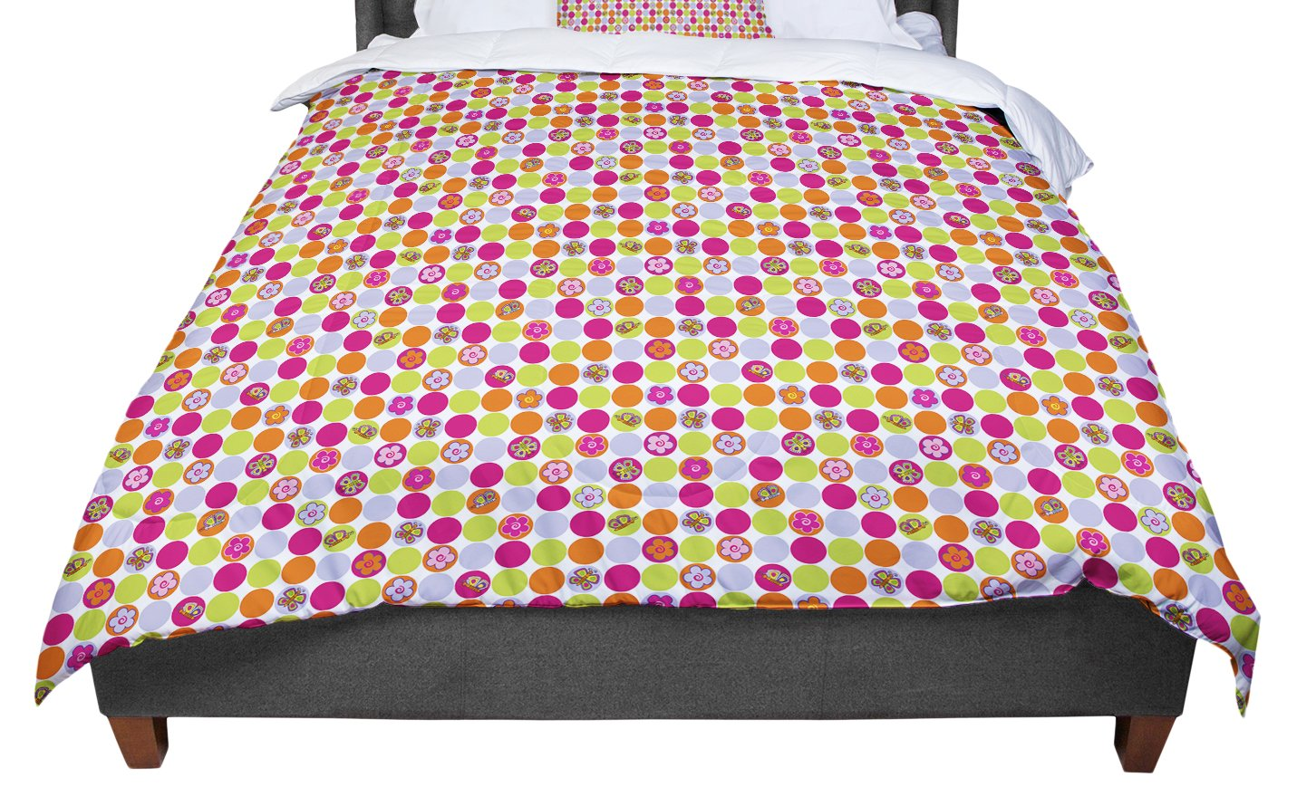 KESS InHouse Julia Grifol Happy Circles Twin Comforter 68 X 88