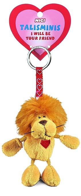 Nici Talisminis 33684 - Llavero con león de peluche, 7 cm ...